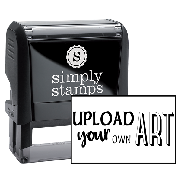 Upload Your Own Art Rectangle Rubber Stamp
