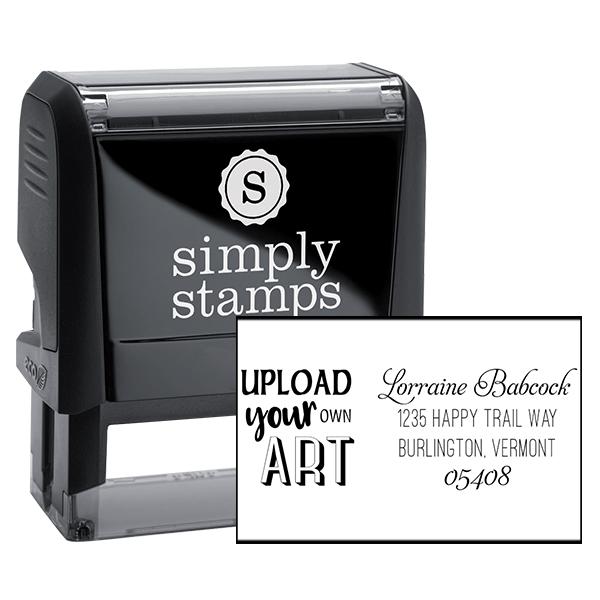 Custom Art Return Address Stamp