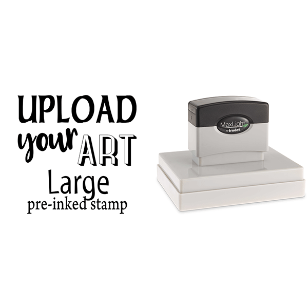 Upload Your Art Large Pre-Inked Stamp Body and Design