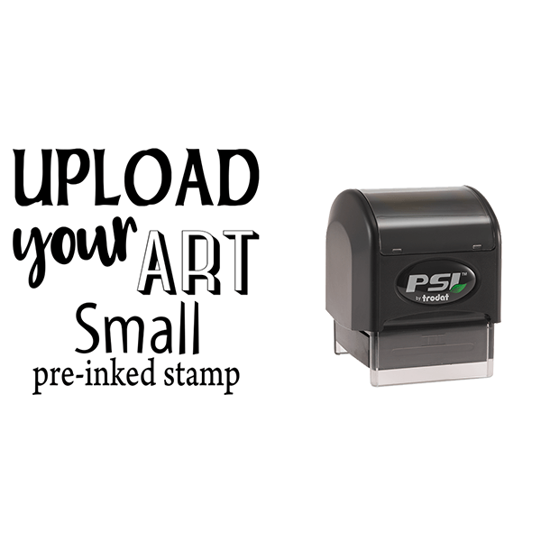 Upload Your Art Small Pre-Inked Stamp Body and Design