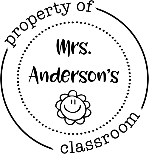 Property of Teacher Classroom Smiley Stamp