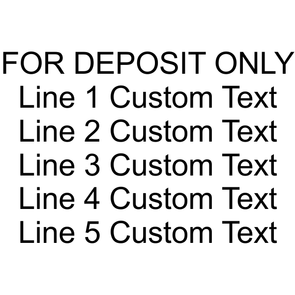 6 Line Self Inking For Deposit Only Stamp