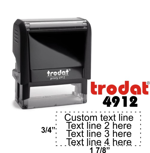 Trodat Printy | Ideal 4912 Self-Inking Stamp - Simply Stamps