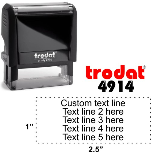 Trodat Printy   Ideal 4913 5 Line Self-Inking Stamp - Simply Stamps