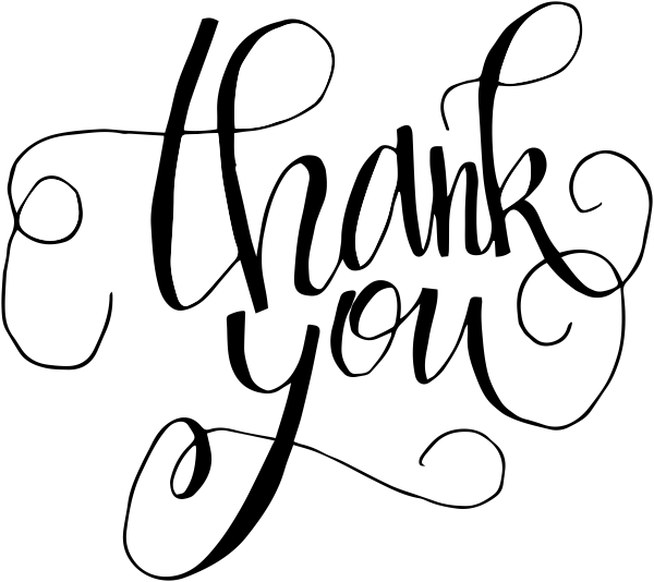 Hand Lettered Thank You Stamp
