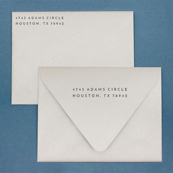 Anderson Handwritten Address Stamp Imprint  Example