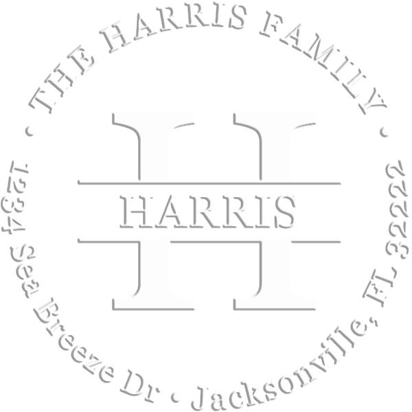 Harris Round Return Address Embosser
