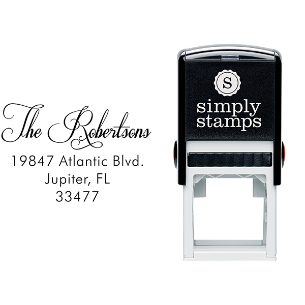 Robertsons Handwritten Address Stamp Body and Imprint