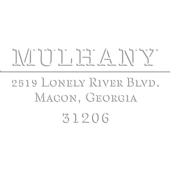 Mulhany Rectangular Return Address Embosser