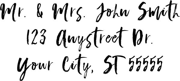 Script Custom 3 Line Stamp Imprint Example