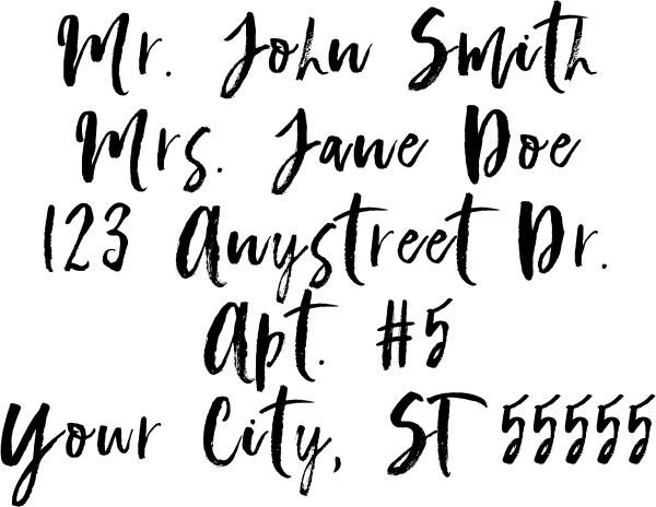 Script Custom 5 Line Stamp