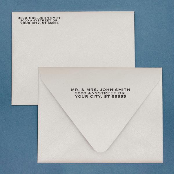 Book Style Custom 3 Line Stamp Imprint Example