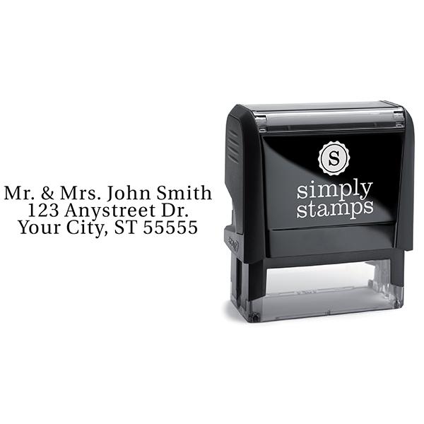 Serif Custom 3 Line Stamp Body and Design