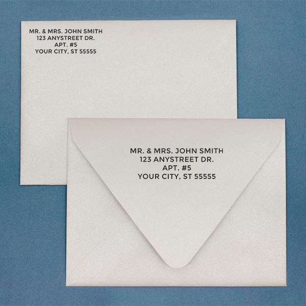 Bold Custom 4 Line Stamp Imprint Example