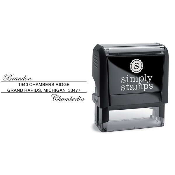 Offset Name Handwritten Address Stamp Body and Imprint
