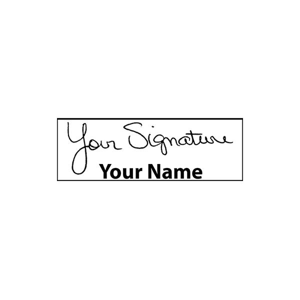 Small Bottom Signature Stamp