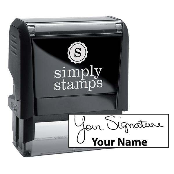 Large Signature Stamp Bottom