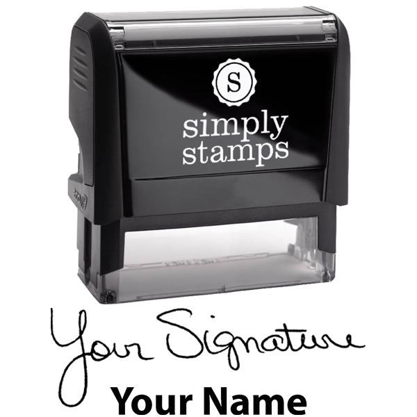 Extra Large Signature Stamp Bottom Body and Design
