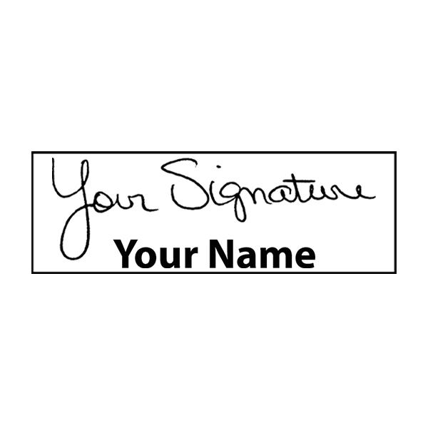 Extra Large Bottom Signature Stamp