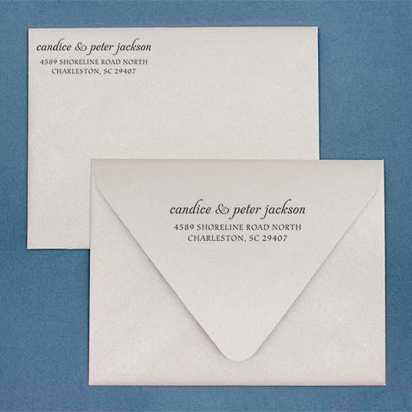Jackson Handwritten Address Stamp Imprint Examples on Envelopes