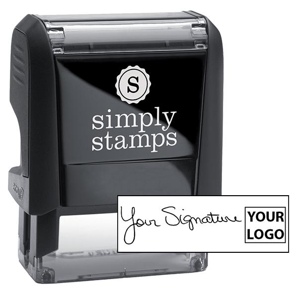 Small Right Logo Signature Stamp