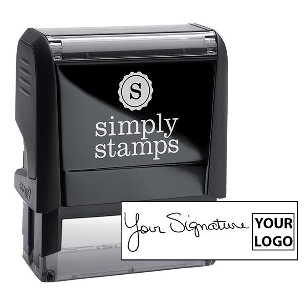 Medium Right Logo Signature Stamp
