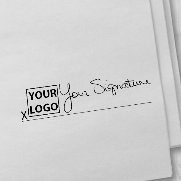 Medium Signature Logo Stamp Imprint Example