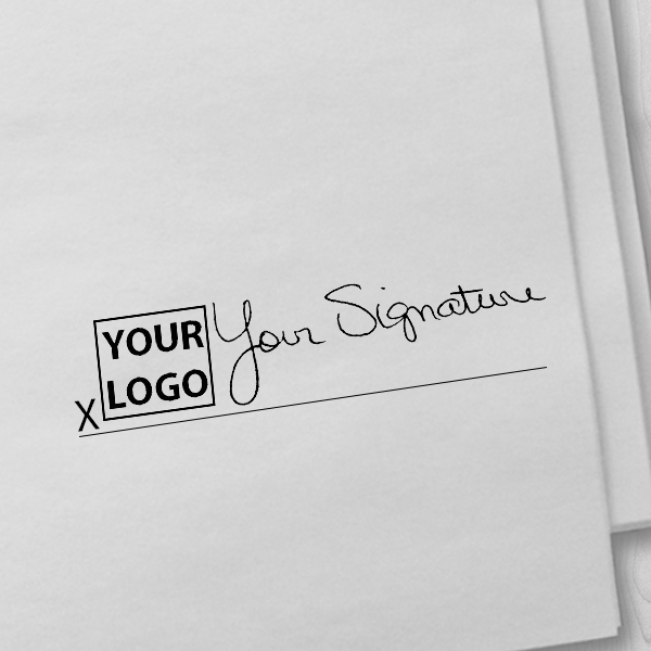 Extra Large Signature Logo Stamp Imprint Example
