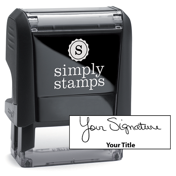 Small Signature Title Stamp