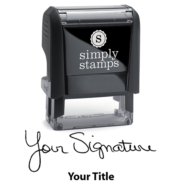 Small Signature Title Stamp Body and Design
