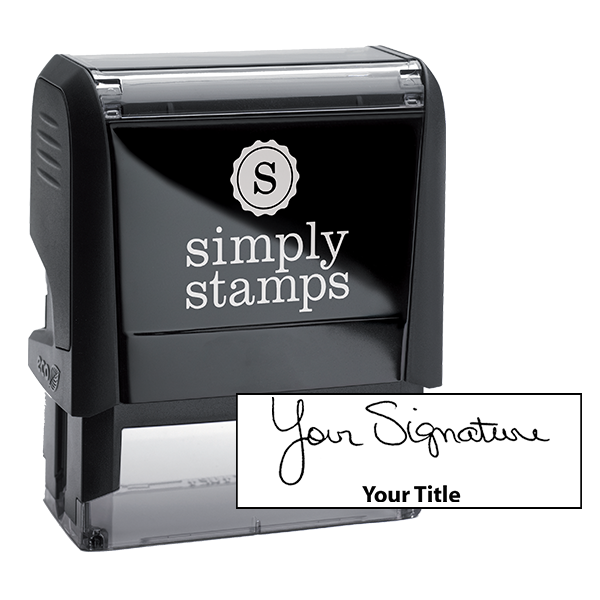 Medium Signature Title Stamp