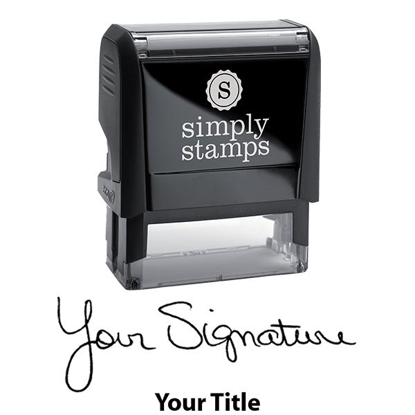 Medium Signature Title Stamp Body and Design