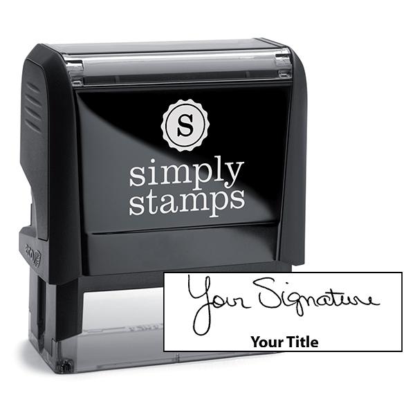 Large Signature Title Stamp