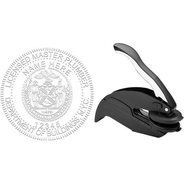 New York Master Plumber Seal Embosser Body and Design