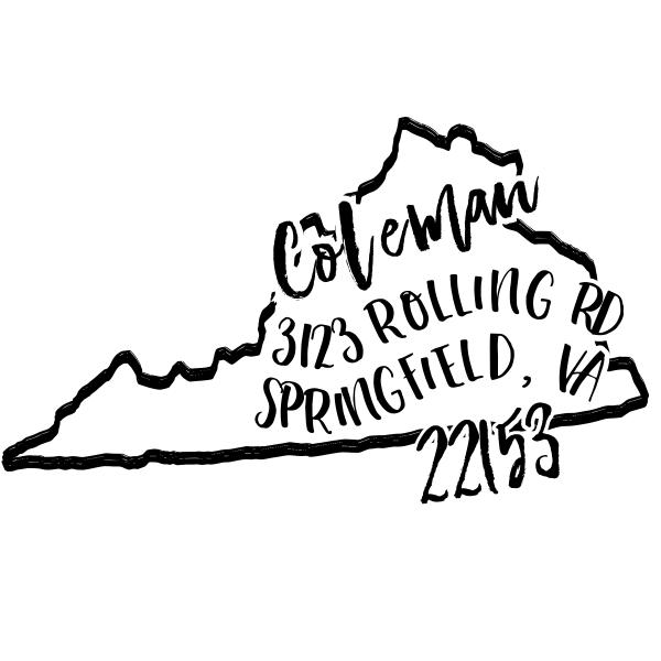 Custom Virginia Address Stamp