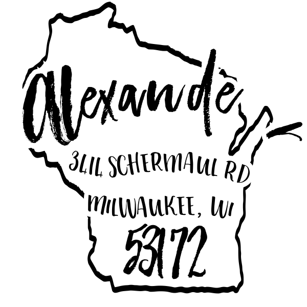 Custom Wisconsin Address Stamp