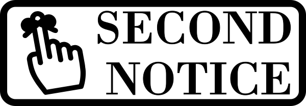 Second Notice Stamp