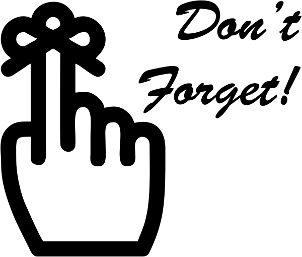 Large Don't Forget Stamp