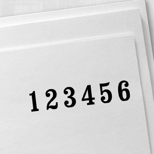 Trodat 5756/M Numbering Machine Imprint Example on Paper