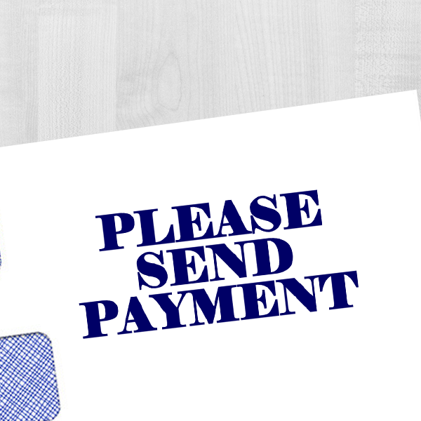 Send Payment Stamp Imprint Example
