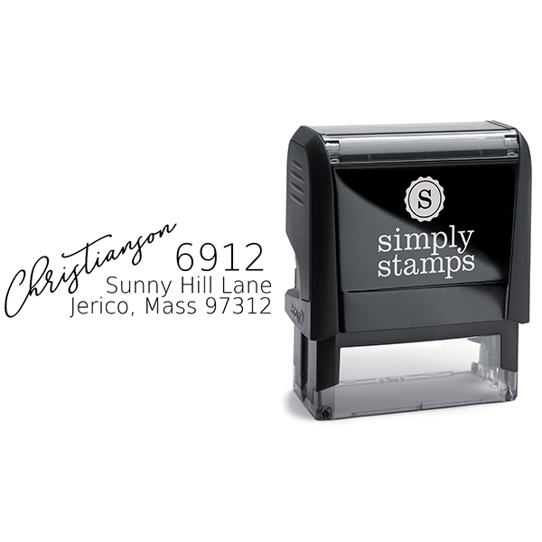 Christianson Address Stamp Body and Design