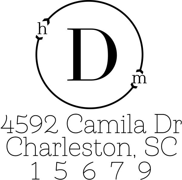 Modern Mono Address Stamp
