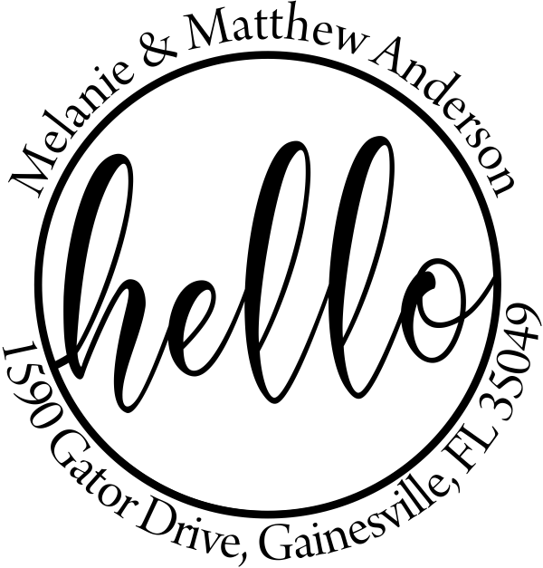 Hello Address Stamp