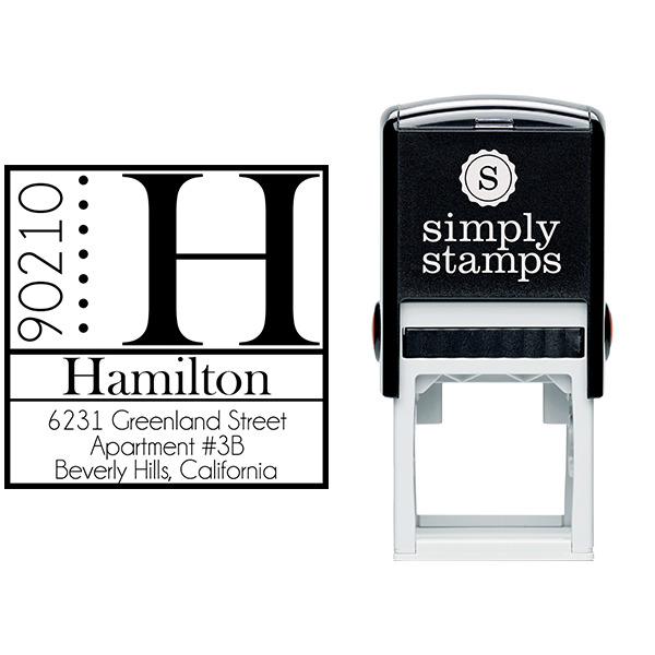 Hamilton Square Address Stamp Body and Design