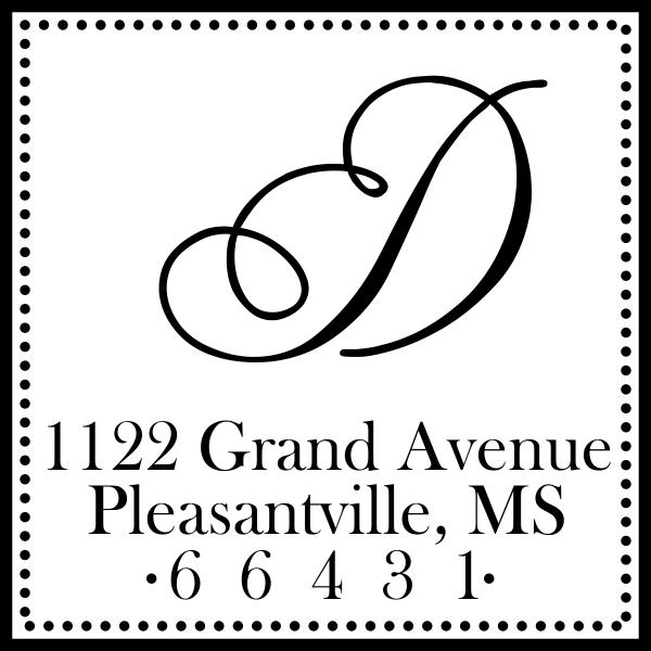 Grand Avenue Address Stamp