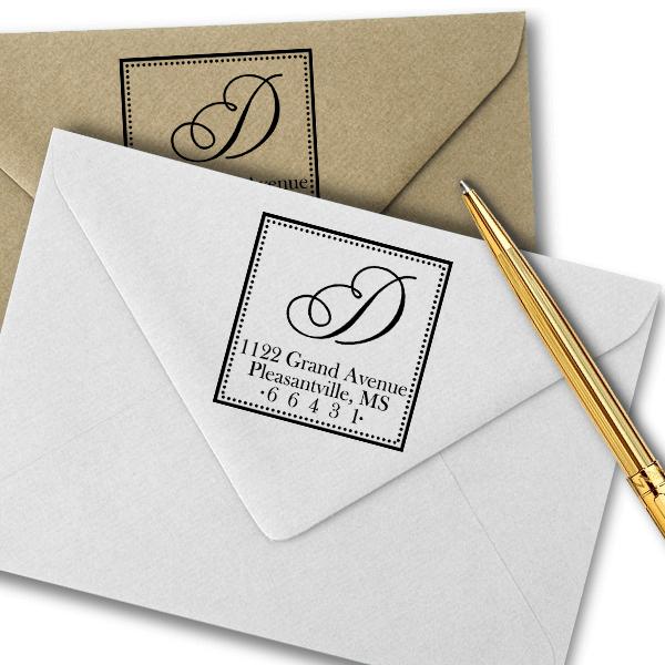Grand Avenue Address Stamp Imprint Example