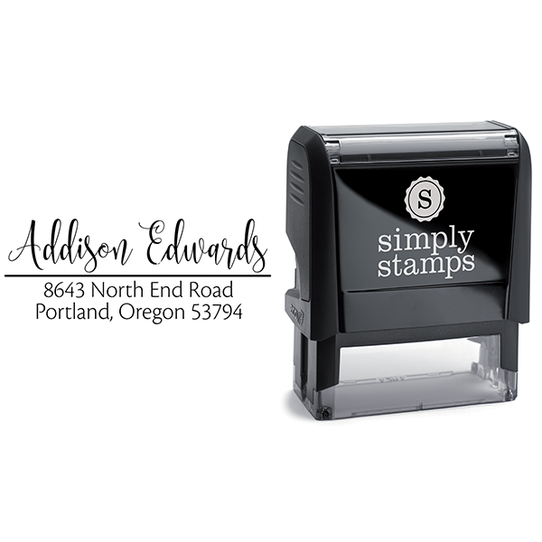 Edwards Address Stamp Body and Design
