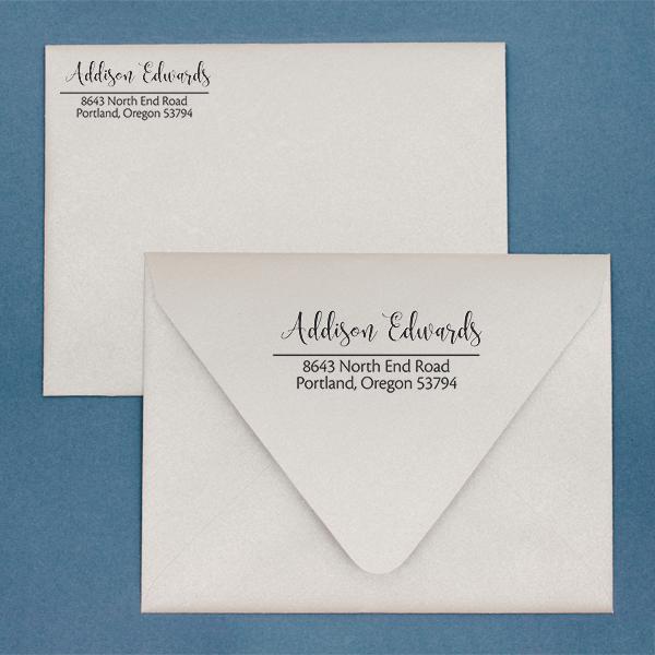 Edwards Address Stamp Imprint Example