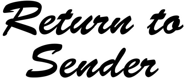 Script Return to Sender Stamp
