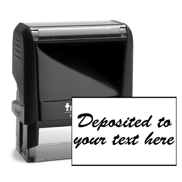 Script Deposited Account Stamp